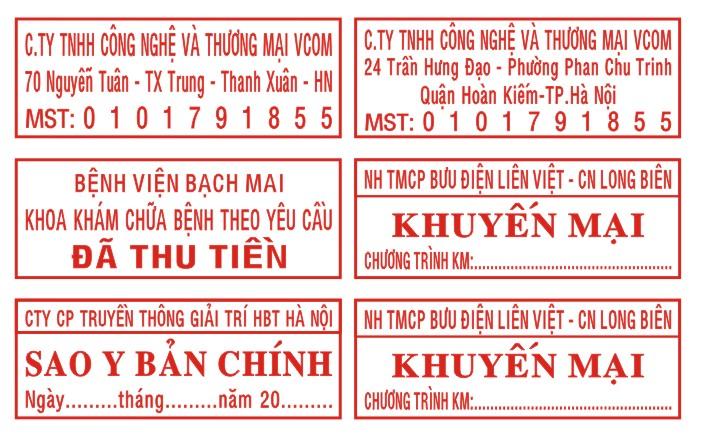 Khắc dấu mã số thuế tại Thanh Hóa