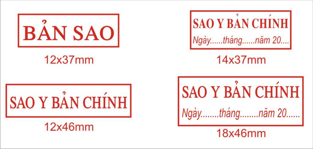 Khắc dấu y sao bản chính tại Thanh Hóa