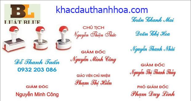 Khắc dấu công ty tại Thanh Hóa